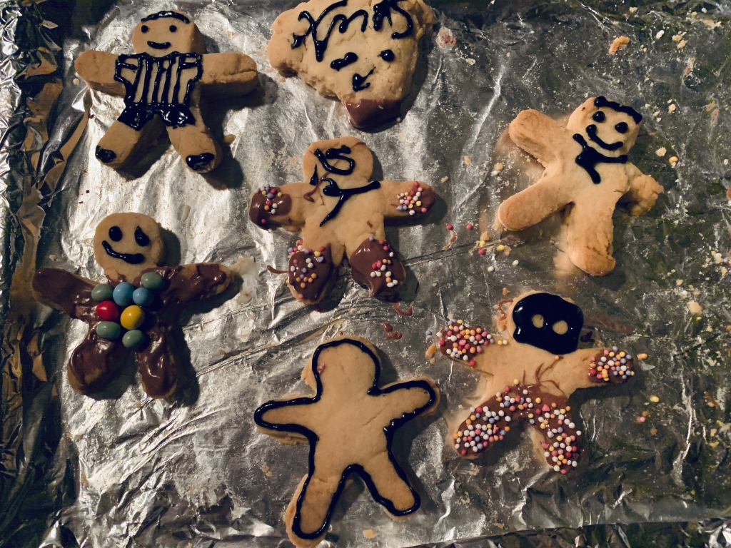 An attempt at decorating some shortbread biscuits.