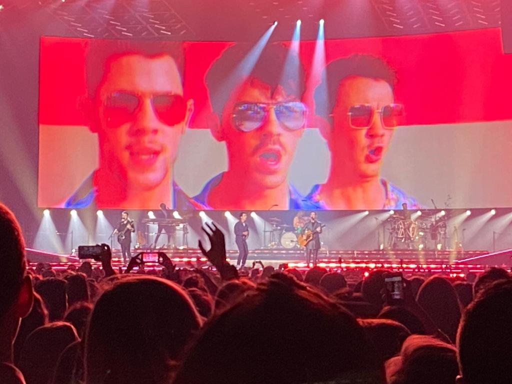 A picture from the Jonas brothers concert in London Wembley.